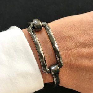 Jewelry - Bangle - Gun Metal tone clasp bracelet